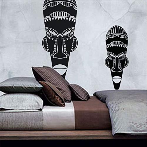 pegatinas de pared infantiles Países y ciudades - Pequeña máscara africana para...