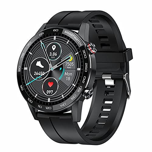 healthwen para L16 Smart Watch Hombres ECG PPG IP68 Reloj Inteligente a Prueba de Agua 1.3 Pulgadas 360 * 360 Reloj Deportivo de Fitness de Pantalla Completa