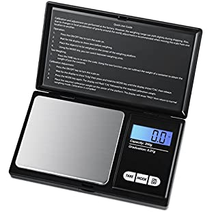 Criacr Digital Pocket Scale, (200 x 0.01g) Jewelry Scales, Smart Scales with LCD Backlit Display and Tare Function, Stainless Steel for Accurate Gram and Slim Design (Battery Included)