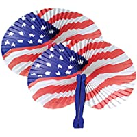 36-Piece LightShine Patriotic Themed American Flag Folding Fans