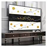 NAKAN Funda para Televisor 19-65 Pulgadas Moderno Cubierta de TV para Interiores Protector de Pantalla de TV para LED, LCD, OLED Suave Material de Lino Algodón(Size:24in,Color:3)