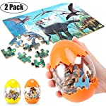 Dinosaur Puzzle, Wooden Puzzles 60 Pieces Puzzles for Kids 3 Years+ Dino Toys 2 Pack Boys Girls Gift 8 ❤SUPER HUGE SIZE DINOSAUR EGG TOY:8.7'' * 5.2 '' , kids need two hands to hold it, combining dinosaur egg with dinosaur puzzle, all kids love it! ❤THE BEST GIFT: Dinosaur Puzzle is suitable for children of 4-5-6-7-8-9-10-11-12 years old as a gift, Christmas, Easter, birthday, game party. ❤EDUCATIONAL DETAILS: This children's dinosaur puzzle allows kids to explore our prehistoric time period, learning about the environment in which the dinosaurs from millions of years ago lived.