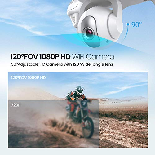 Potensic Dual GPS FPV RC Drone, 1080P Camera Live Video and GPS Return Home Quadcopter with WiFi Camera - Follow Me, Altitude Hold, 2500mAh Battery Long Control Range