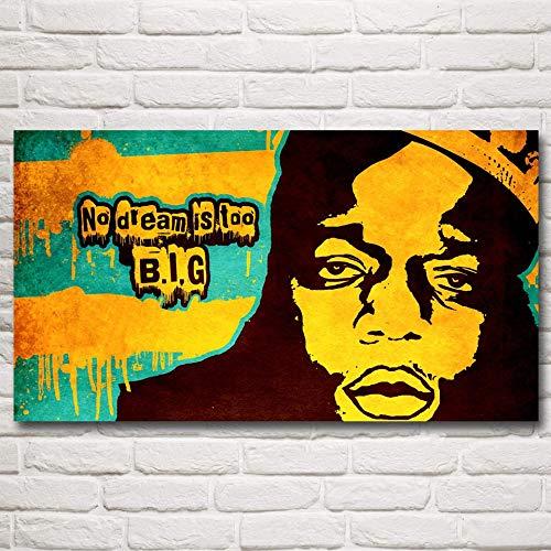 baodanla Geen frame De beruchte B.I.G. Rapper Singer Art Zijde Stof Poster Print Inches Muurdecoratie Foto's Shi