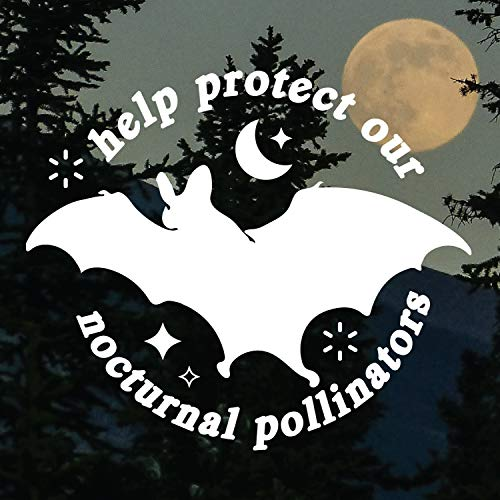 TAMENGI Protect Our Nocturnal Pollinators - Save The Bats Sticker Nature advocates - 7 inches