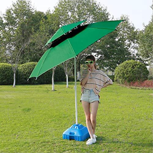 SUNY 2.5M Alu Ampelschirm Kippbar, Lüftung Und Kurbelsystem Sonnenschirm Gartenschirm Freiarm Terrassenschirm (Grün)