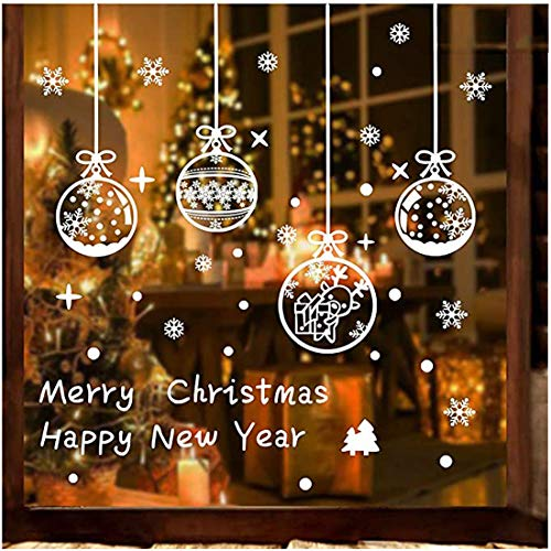 Adesivi per vetrofanie decorazione vetrine Decorazione pendenti per fiocchi di neve Adesivi per decorazioni natalizie Adesivi elettrostatici in PVC riutilizzabili Vetrata Decorazione invernale