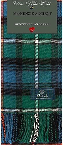 I Luv Ltd MacKenzie Ancient Tartan Clan Scarf 100% Soft Lambswool
