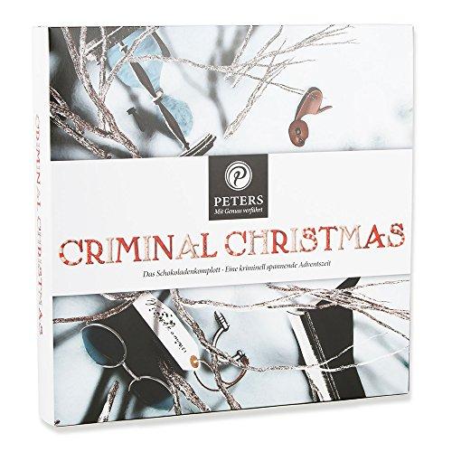 """Peters Adventskalender \""""Criminal Christmas\"""" II mit Buch   Spannende Kriminalgeschichte zu Weihnachten   mit edlen Trüffel-Täfelchen"""