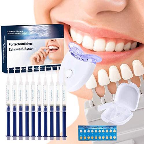 Zahnaufhellung Gel Ohne Peroxid Teeth Whitening Kit,Gegen Gelbe Zähne,Rauchflecken,Schwarze Zähne (Red)