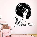Etiqueta engomada del salón de Peluquería Mujer Salon Spa Applique Peluquería Poster Vinilo Tatuajes de Pared Decoración Decorativa Mural