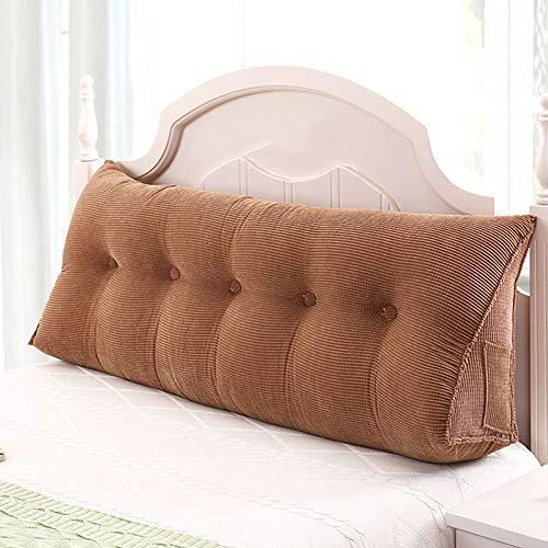 ZHAYEDE Große Bequeme dreieckige Rückenlehne Bett Kissen Kopfteil,Rückenkissen keilkissen Bett zum Lesen Rest im Bett Rest Atmungsaktive Lendenkissen Bücherkissen Taille mit waschbarem Brown