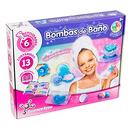 Science4you-5600983608634 Bombas de Baño para Niños +8 Años, Multicolor (5600983608634) , color/modelo surtido