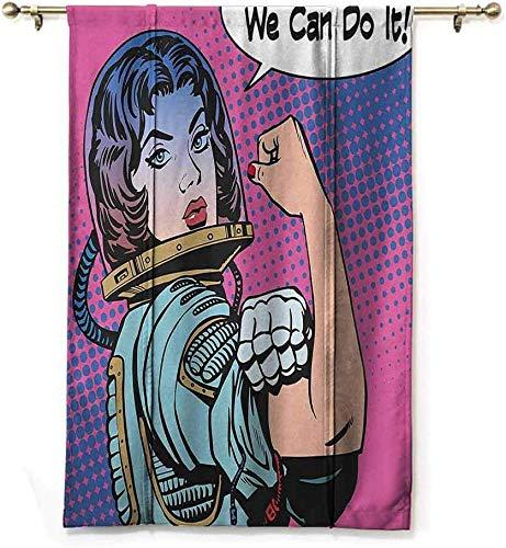 SPA Roman Curtain Comics Retro 50S 40S Comics Magazine Figura con Derechos Ídolo Imagen Obra De Arte Protección De La Privacidad,W122 X H183 CM/48X72 Pulgada