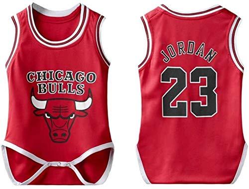 Camiseta de fútbol para bebé de la NBA de Chicago Bulls Jordan #23 Fans sin mangas de baloncesto para bebé niño niña (tamaño: 6 ~ 12 meses)
