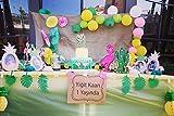SUNBEAUTY Sommer Party Dekoration Kit Flamingo Ananas Hawaii Tropische Deko - 3