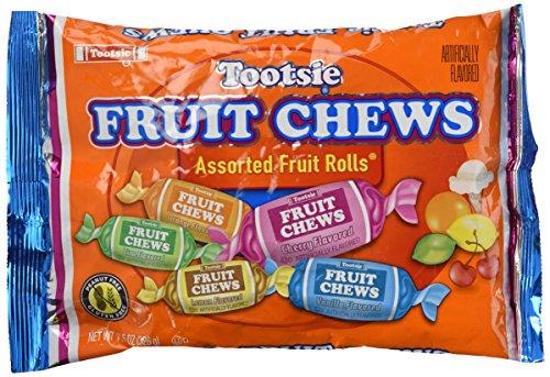 Tootsie Fruit Rolls, Assorted Fruity Flavored, 0.81 lb