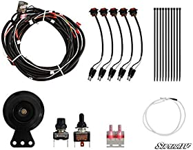 SuperATV Turn Signal Kit for Can-Am Defender HD 5/8 / 10 / DPS/MAX/Cab/XT/XTP With Toggle Switch and Dash Horn - Plug and Play For Easy Installation!