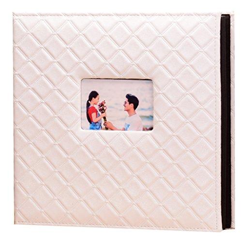 ZYANZ PU Frame Cover Photo Album 600 Pockets Hold 4x6 Photos (Color : White)