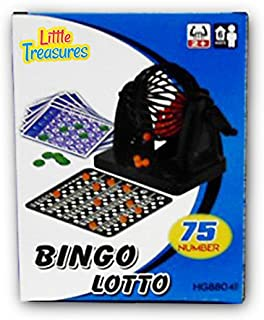 Little Treasures Bingo Game a Educational 75 Number Bingo Play Set Lottery Party Game (2 to 10 Players ? Ages 6 +)