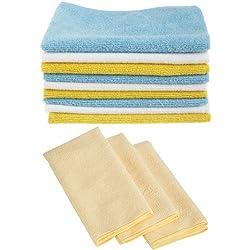AmazonBasics Microfaser-Reinigungstücher, 24 + 3 Stück