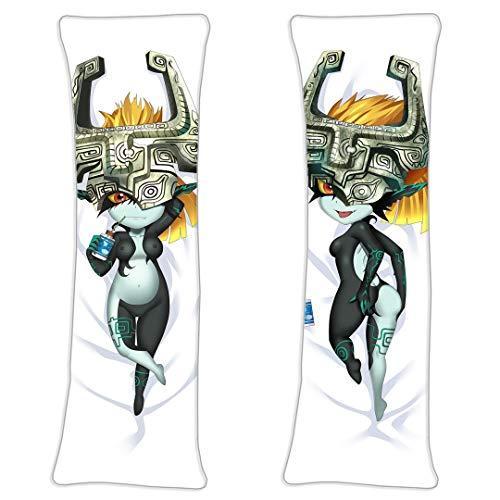 LOliU8 Midna Legends of Zelda Umarmungskissen Kissen 2 Way Tricot Japanischen Kissenbezug 66.9 x 23.6in Figuren Dekokissen Bezug