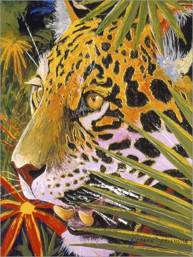 Posterlounge Acrylglasbild 60 x 80 cm: Jaguar-Dschungel von Graeme Stevenson/MGL Licensing - Wandbild, Acryl Glasbild, Druck auf Acryl Glas Bild