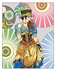 Creative Haven Steampunk Fashions Coloring Book (Creative Haven Coloring Books) #2