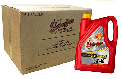 Schaeffer Manufacturing Co. 0700-006 Supreme 7000 Synthetic Plus Engine Oil 15W-40, 1 gal (Pack of 6)