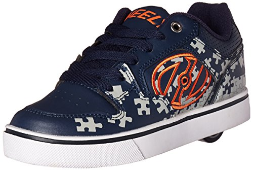 Heelys Jungen Motion Plus Turnschuhe, Blau (Navy/Grey/Orange), 39 EU