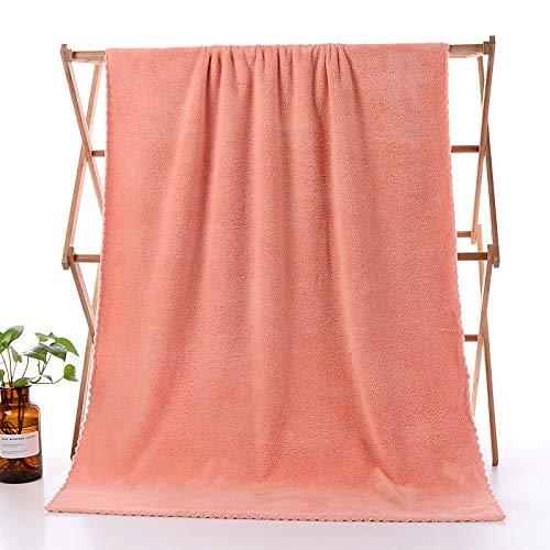 Yi-xir Toalla de baño de microfibra absorbente de Ace suave y duradera, toalla de baño absorbente de fibra superrefinada, suave y cómoda, ligera y elegante (color: naranja, tamaño: 1 pieza)