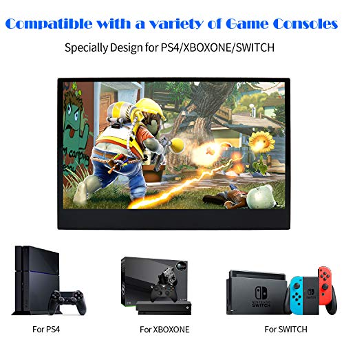 WIMAXIT Portable Touch Screen Monitor 13.3 Inch IPS Ultrathin 1920X 1080 Screen 10 Capacitive Touch HDMI Monitor 5V 2A USB Powered Compatible for PS4 PC Switch