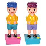 ArtCreativity Squirt Wee Pee Boy Set Pack of 2 - 7.5 inch Peeing Boy Squirter Toys - Leak-Free Water Base - Classic Funny Novelty Gag Gift for Men, Women, Kids - Multicolor