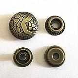 5 set/lote Botones de 17 mm Cierre de broche de metal con tachuelas de cuero para abrigos Botón de jeans artesanales de 17 mm