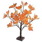 Mekta - Decoración para jardín con 24 luces LED, hojas de arce para otoño, árbol iluminado, arce, mesa artificial, árbol de otoño, decoración para casa o boda