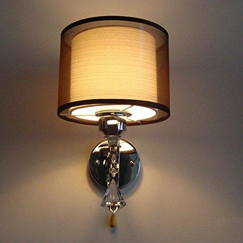 JJZHG wandlamp wandlamp wandlamp slaapkamer nachtlampje woonkamer trap gangpad wandlamp zonder pull schakelaar omvat: wandlampen, wandlamp met leeslamp, wandlamp met stekker