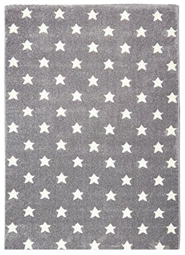 KIDS LOVE RUGS Kinderteppich Star Dreams Silbergrau/weiß 100 x 160 cm