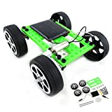 Fine Mini Solar Car kit - DIY Assemble Toy Set Solar Powered Car Science Educational Project Toy for Boys Girls Kids Students 8 Years (Green)