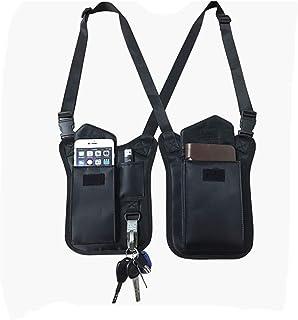 Bolsa de hombro oculta para axilas, bolsillo oculto, multiusos para hombro, axila, bolsa táctica para viajes al aire libre HGJ96