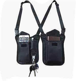 Anti-Thief Hidden Underarm Shoulder Bag Concealed Pack Pocket Multi-Purpose Men/Women Safety DoubleStorage Shoulder Armpit Bag Holster Tactical Bag for Travel Outdoors