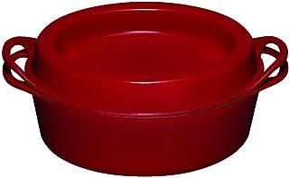 Le Creuset, Doufeu en Fonte Émaillée, Forme Ovale, Ø 32 cm, Compatible avec Toutes Sources de Chaleur (Induction Incluse),...