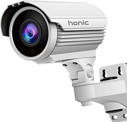 1080P Sony Exmor Sensor (TVI/AHD/CVI/1200tvl) 2.8-12mm Manual Zoom HD Security Camera, Honic 2MP Varifocal IR CCTV Cameras, Outdoor Waterproof Day Night Vision Analog Camera for Video Surveillance
