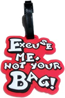 NEW KIE Tag EXCUSE ME NOT YOUR BAG Silicone Luggage Address Label Id Suitcase Travel Tags Baggage Name Bag Holder New Design Identifier (Excuse me Red)