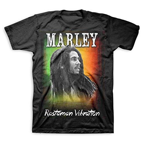 Bob Marley Rastaman Sunset Black T-Shirt