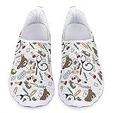 Chaqlin Cute Nurse Bear Pattern Trainers Zapatillas de Andar de Malla Casuales para Mujer Zapatillas de Deporte Ligeras para Correr al Aire Libre Blanco 37 EU