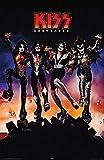 Theissen Kiss Destroyer Music Art Print Poster Wall Decor Hard Rock Heavy Metal 4th Studio Album 1976 - Matte Poster Frameless Gift 28cm x 43cm)*IT-00197