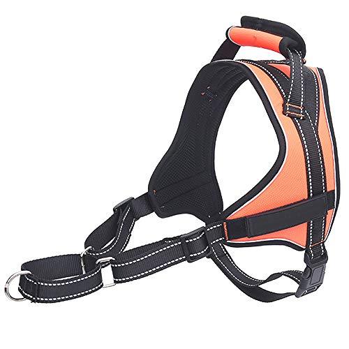 MARXIAO Hundegeschirr Für Große Hunde Anti, Cut Back Shock Explosionsgeschützte Wear-Resistant Bequeme Breathable Hundeweste Hundeleine Reflektierende Dog Rope-Brustgurt,B,M