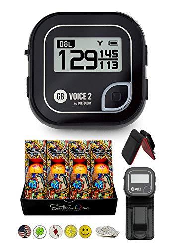 Great Deal! Golf Buddy Voice 2 Golf GPS/Rangefinder Bundle with 1 Dozen Saintnine Golf Balls, 1 Belt...