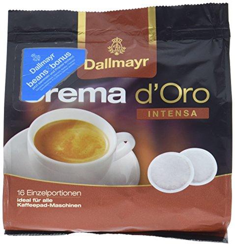 Dallmayr Crema d\'oro Intensa Kaffeepads, 16 Stück, 112 g