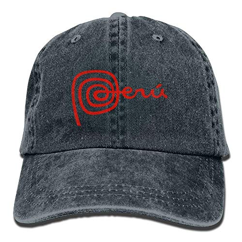 Hoswee Baseballmütze Hüte Kappe Peru Unisex Denim Baseball Cap Adjustable Snapback Hats